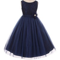 aa6f97a63a Shop Flower Girl Dress Floral Pattern Top Soft Tulle Skirt Blush MBK ...