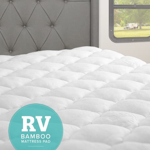 Kotter Home RV Rayon From Bamboo Mattress Pad with Fitted Skirt (For Recreational Vehicles)