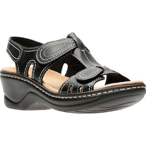 5a07f705a28 Shop Clarks Women s Lexi Walnut Sandal Black Leather - On Sale ...