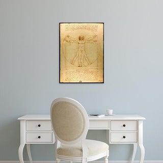 Easy Art Prints Leonardo da Vinci's 'Vitruvian Man' Premium Canvas Art