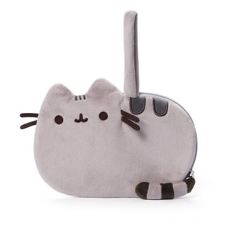 "Pusheen The Cat 8"" Plush Wrist Purse - gray"