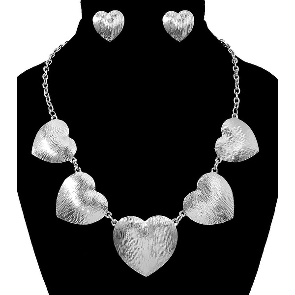 Heart Charms Necklace Set for Love