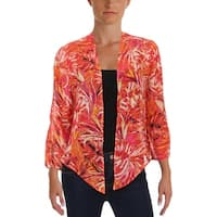 NY Collection Womens Petites Bolero Chiffon Printed - ps
