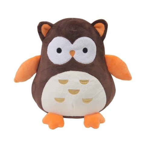 "Bedtime Originals Friendly Forest Brown/Orange/Cream 8"" Plush Owl Stuffed Animal - Percy"