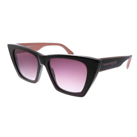 Alexander McQueen Romance AM 299S 004 Womens Burgundy Frame Purple Gradient Lens Sunglasses