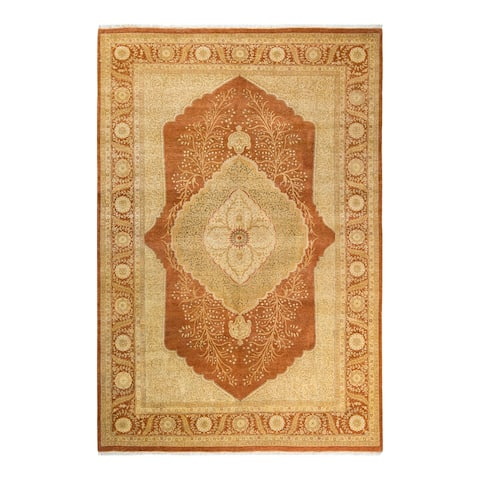 """Mogul, One-of-a-Kind Hand-Knotted Area Rug - Brown, 6' 3"""" x 9' 2"""" - 6'3"""" x 9'2"""""""