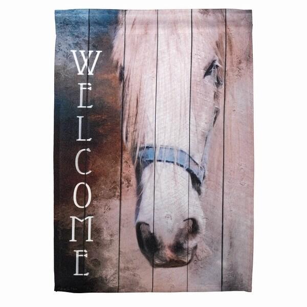 "18"" x 13"" Horse ""Welcome"" Garden Flag - N/A"