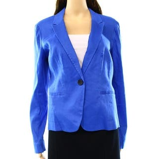Halogen NEW Solid Blue Women's Size Small S Seamed One Button Blazer|https://ak1.ostkcdn.com/images/products/is/images/direct/70439eeb314b43a37d169cbef09212607b1a6365/Halogen-NEW-Solid-Blue-Women%27s-Size-Small-S-Seamed-One-Button-Blazer.jpg?impolicy=medium