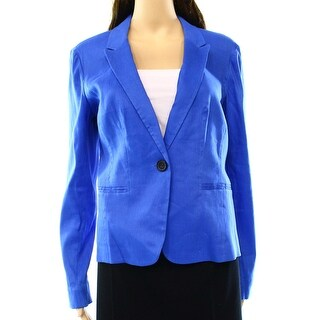 Halogen NEW Solid Blue Women's Size Small S Seamed One Button Blazer