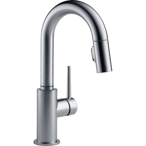 Delta 9959-DST Trinsic 1.8 GPM Single Hole Pull-Down Bar/Prep Faucet with Magnetic Docking Spray Head. Opens flyout.