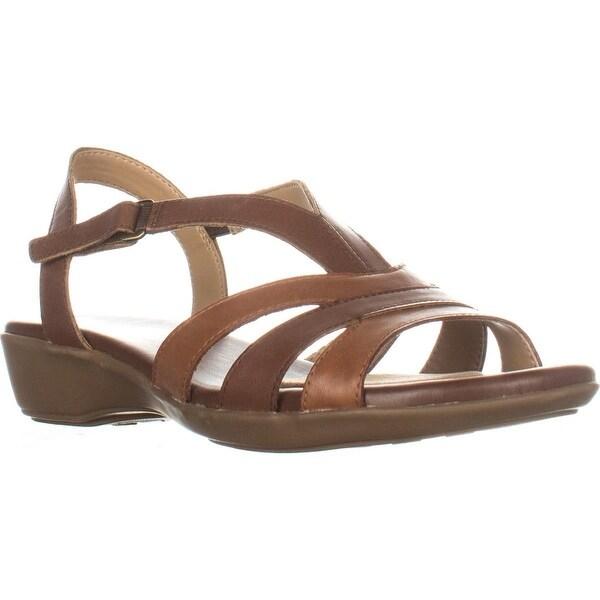 naturalizer Neina Flat Comfort Sandals, Brown Multi