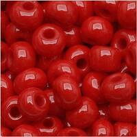 Czech Seed Beads 6/0 True Red Opaque (1 Ounce)