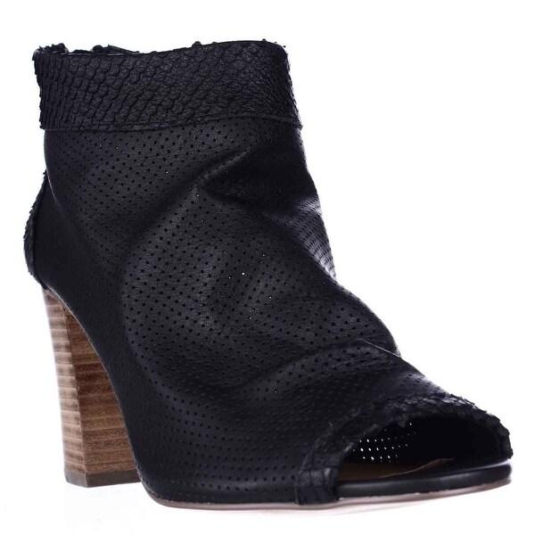STEVEN by Steve Madden Normandi Peep Toe Slouch Ankle Booties, Black Multi