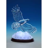 """Set of 2 Clear and Black Hawk Soaring Table Top Decorations 8.5"""""""