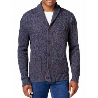Tommy Bahama NEW Blue Mens Size 2XL Marled Knit Cardigan Sweater