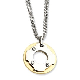 Chisel Stainless Steel IPG 24k Plating Circle 22 Inch Necklace (2 mm) - 22 in