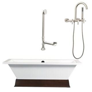 """Giagni LT3-C Tella 66"""" Free Standing Soaking Tub Package - Includes Tub, Tub Pli"""