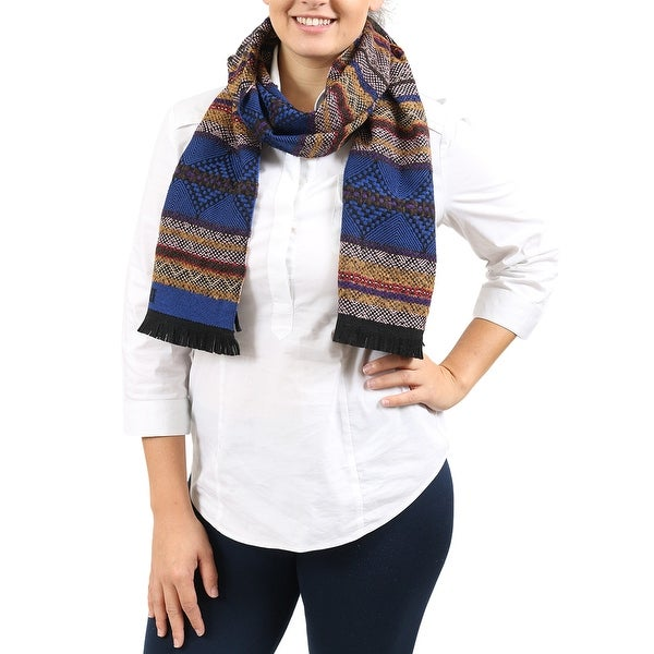 Missoni Blue/Tan Abstract Scarf - 14-72. Opens flyout.