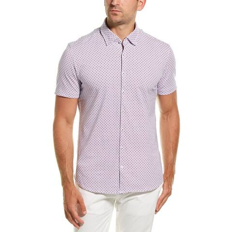 Stone Rose Performance Button-Down Shirt