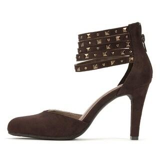 Rialto Womens Carlita Closed Toe Ankle Strap Classic Pumps