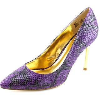 Thalia Sodi Elina Women Pointed Toe Canvas Purple Heels