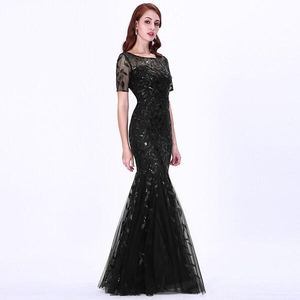 Women/'s Evening Cocktail Party Fishtail Hem Maxi Dress Prom Gown Club Wear