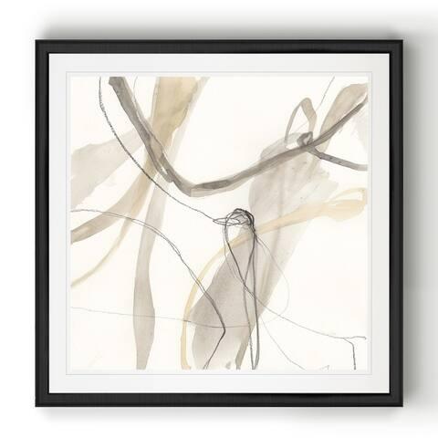 Neutral Momentum III -Black Framed Print