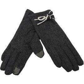 Elegant Women Wool Gloves Accent Fingertips Touchscreen Texting, Fall Winter, Cell Phone Text