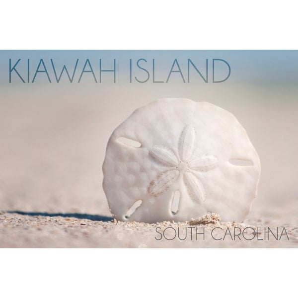 Kiawah Island, SC Sand Dollar Beach LP Photography (Acrylic Wall Clock) - acrylic wall clock