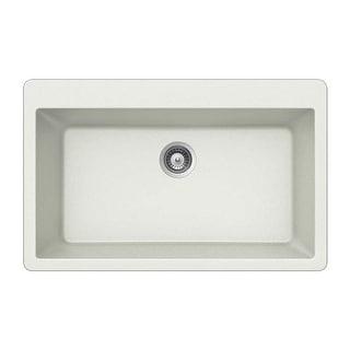 "Houzer V-100  Quartztone 33"" Single Basin Drop In Kitchen Sink"