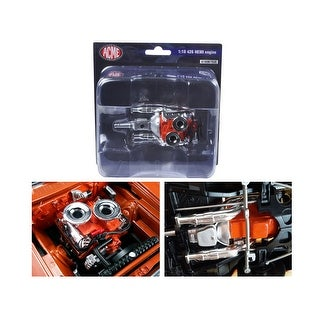 Hemi Bullet Hemi 426 Engine with Headers and Transmission Replica 1/18 by Acme