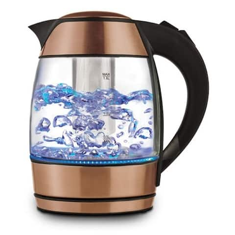 Brentwood Electric Glass Kettle With Tea Infuser Electric Glass Kettle