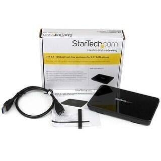 "Startech S251bpu313 2.5"" Usb 3.1 10Gbps Tool Free Enclosure For Sata Drives"