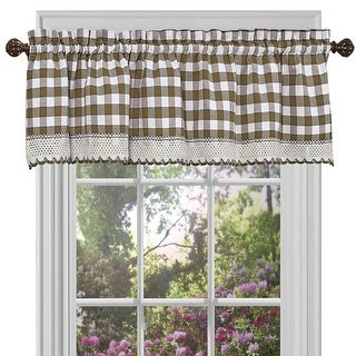 Link to Buffalo Check Gingham Kitchen Curtain Valance, 58x14 Inches Similar Items in Window Treatments
