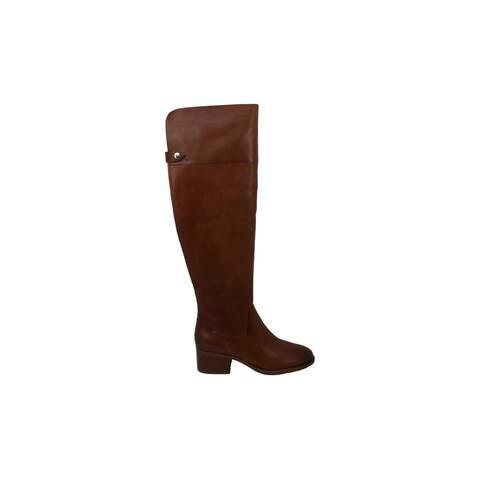 INC International Concepts Womens Karmenn Leather Closed Toe Over Knee Fashion Boots