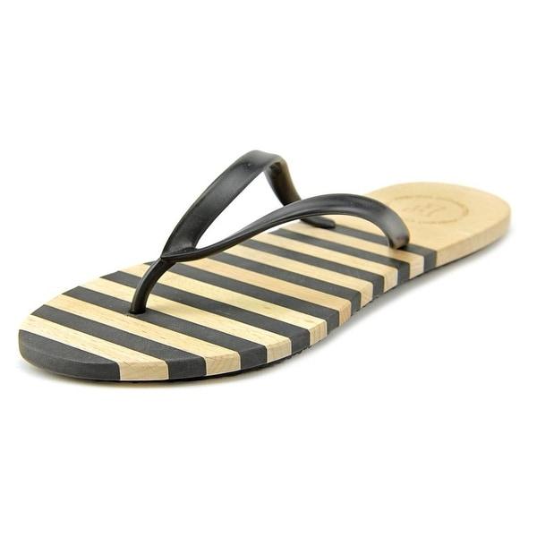 French Connection Filipa Women Open Toe Synthetic Black Flip Flop Sandal