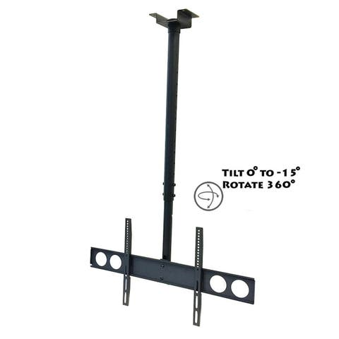 Megamounts CMC-348 37 to 70 in. Heavy Duty Tilting Ceiling Television Mount for LCD LED & Plasma Screens