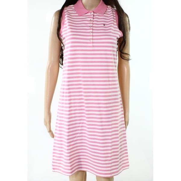 305bd4b0fdeb7 Shop Tommy Hilfiger NEW Light Pink Womens Size XS Striped Polo Shirt ...