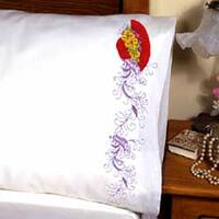 """Red Hat - Stamped Pillowcase Pair For Embroidery 20""""X30"""""""