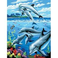 """Dolphins - Junior Small Paint By Number Kit 8.75""""X11.75"""""""