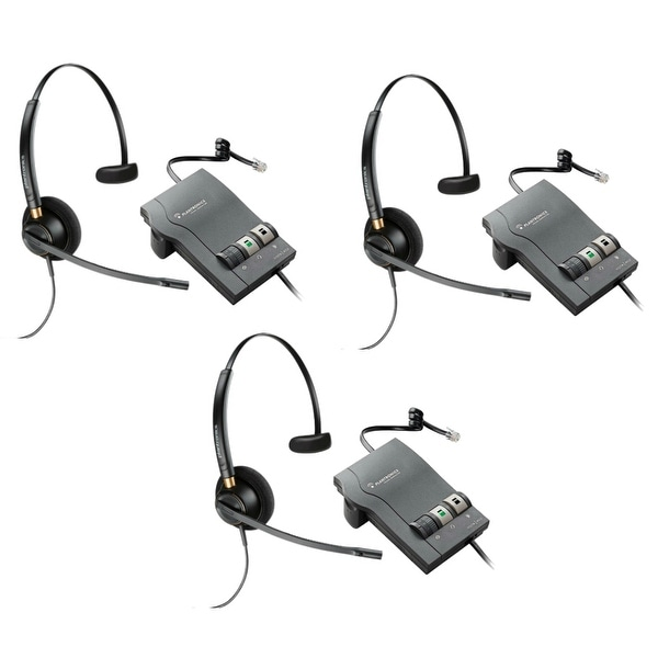 Plantronics Encore Pro HW510 with M22 (3-Pack) Monaural Noise-Cancelling Headset