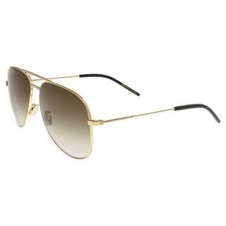 Saint Laurent SL CLASSIC 11-009 Gold Aviator Sunglasses