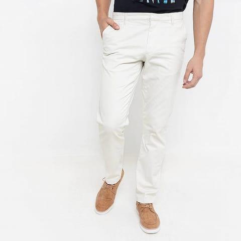DKNY Mens Pants Silver Birch Size 38x30 Straight Chino Stretch Slim-Fit