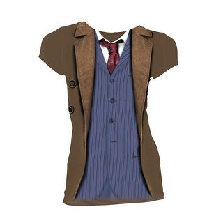 Doctor Who Classic Womens T-Shirt 10Th Doctor Costume