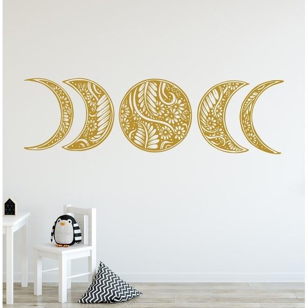 Moon Phase Wall Decal. Mandala Moon Decal Bohemian. Opens flyout.
