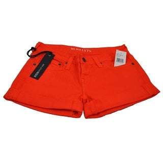 Big Star Women's 1974 Remy Orange Stretch Cuffed Size 24 Shorts