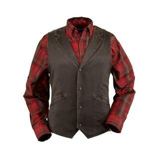 Outback Trading Vest Mens Arkansas Vintage Effect Cotton Brown