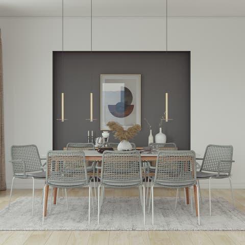 Midtown Concept Bleue 9pc Wood Indoor Dining Set