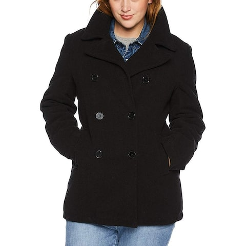 Excelled Women's Jacket Midnight Black Size 2X Plus Double Breasted