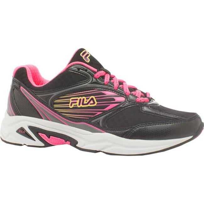 Fila Women's Inspell 3 Running Shoe Black/Knockout Pink/Safety Yellow
